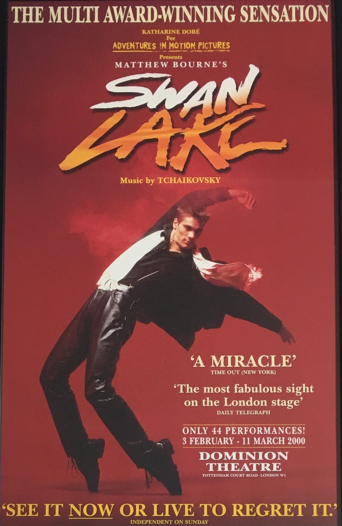 Swan Lake 2000 Poster for the run at the Dominion Theatre in London's West End