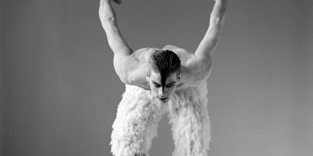 A 1995 studio shot of Adam Cooper as The Swan