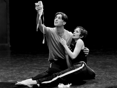Harrison Dowzell and Cordelia Braithwaite in Rehearsals for The Red Shoes