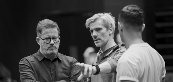 Matthew Bourne and Adam Cooper in Rehearsals for The Red Shoes