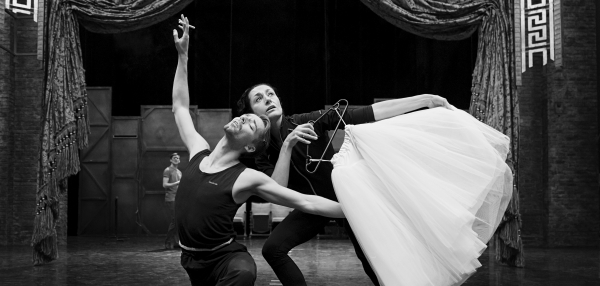 Michela Meazza and Liam Mower in Rehearsals for The Red Shoes