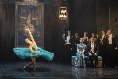 Victoria Page (Ashley Shaw), Lady Neston (Daisy May Kemp) and Boris Lermontov (Adam Cooper) The Red Shoes