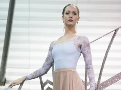 Ashley Shaw in rehearsal for Matthew Bourne's Cinderella