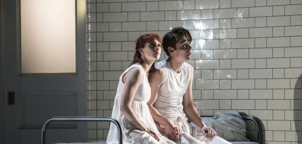 Cordelia Braithwaite (Juliet) and Paris Fitzpatrick (Romeo)