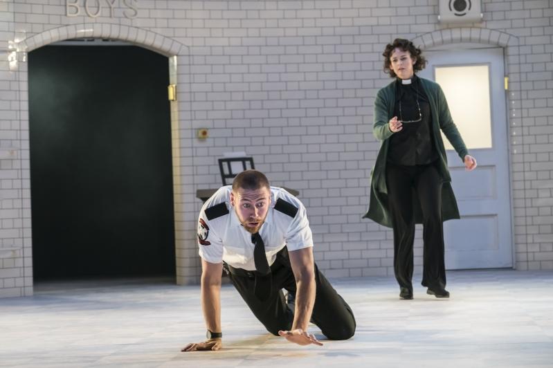 Tybalt (Dan Wright) and Rev Bernadette Laurence (Daisy May Kemp) - Capulet Company