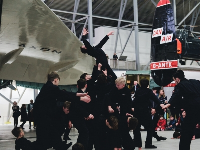 Legacy Dance Company performing Cinderella: A Museum Adventure at Imperial War Museum Duxford