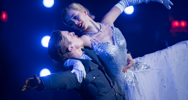 Harry, the Pilot (Andrew Monaghan) with Cinderella (Cordelia Braithwaite)
