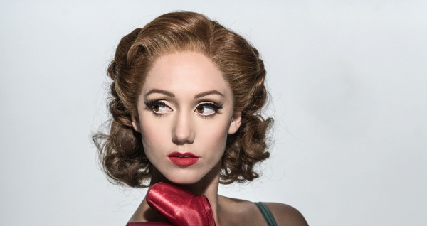 Ashley Shaw as Victoria Page at The Red Shoes Photoshoot