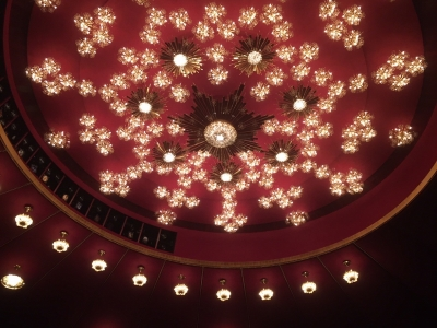 The Kennedy Center auditorium ceiling