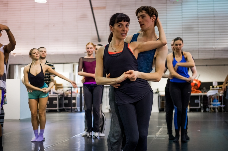 Matthew Bourne's Swan Lake in rehearsals