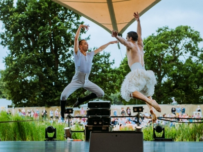 Will Bozier (The Swan) & Liam Mower (The Prince) performing at Latitude 2018