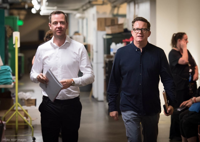 Matthew Bourne & Neil Westmoreland backstage at The Red Shoes