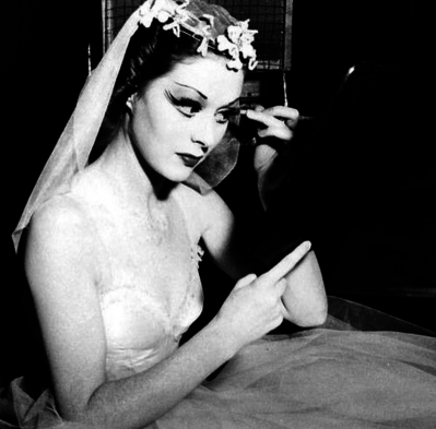 Moira Shearer On The Set Of The Red Shoes 1948