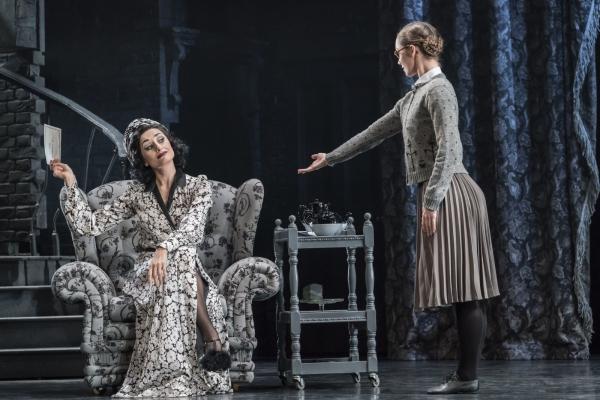 Matthew Bourne's Cinderella – Michaela Meazza as Sybil, Cinderellas Stepmother and Ashley Shaw as Cinderella