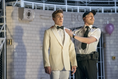 Romeo (Andrew Monaghan) and Tybalt (Danny Reubens) - Montague Company