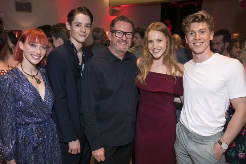 Cordelia Braithwaite (Juliet), Paris Fitzpatrick (Romeo), Matthew Bourne, Seren Williams (Juliet) and Andrew Monaghan (Romeo) at the Romeo and Juliet Gala Performance