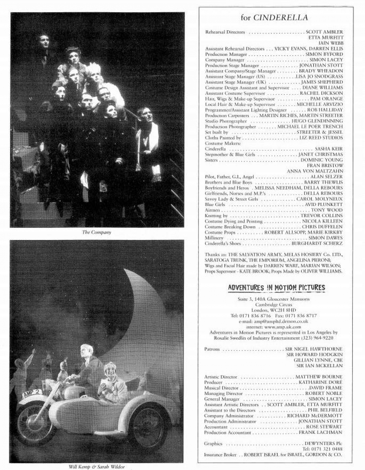 Ahmanson Theatre Programme 1999