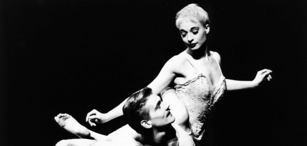 A 1997 studio image of Sarah Wildor as Cinderella and Adam Cooper as The Pilot