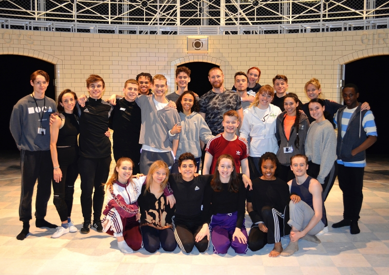 The Montague company dancers with the Leicester Young Cast
