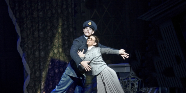 Harry, the Pilot (Sam Archer) and Cinderella (Kerry Biggin) in Matthew Bourne's Cinderella 2010