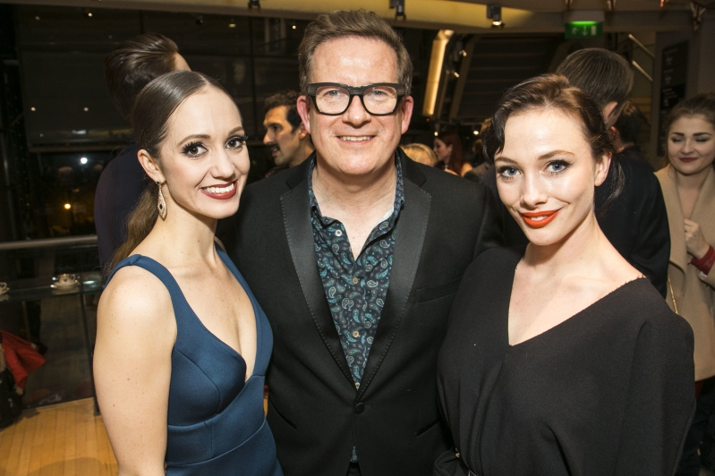 Matthew Bourne with Ashley Shaw and Cordelia Braithwaite at Cinderella gala performance
