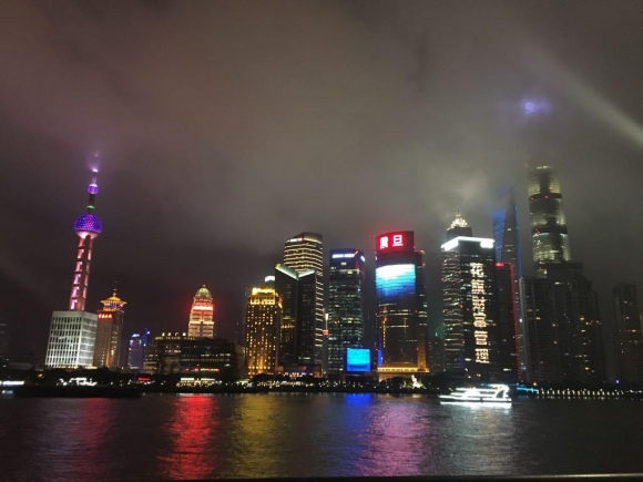 A picture of The Bund in Shanghai