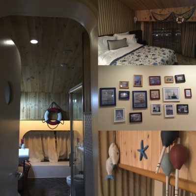 Nautical themed hotel room in Beijing