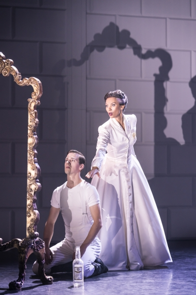 The Prince (Dominic North) & The Queen (Nicole Kabera) in Matthew Bourne's Swan Lake