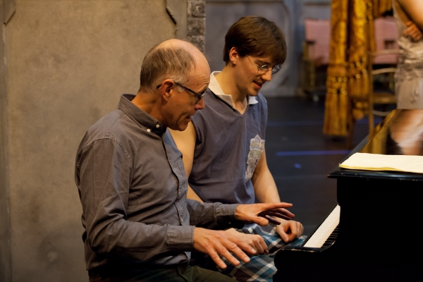 Terry Davies and Dominic North in rehearsals for The Red Shoes