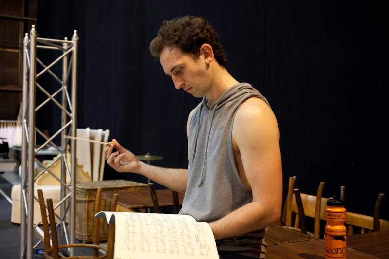 Chris Trenfield in rehearsals for The Red Shoes