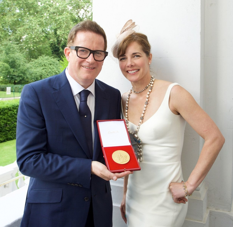 Matthew Bourne with Dame Darcey Bussell DBE and QEII Award