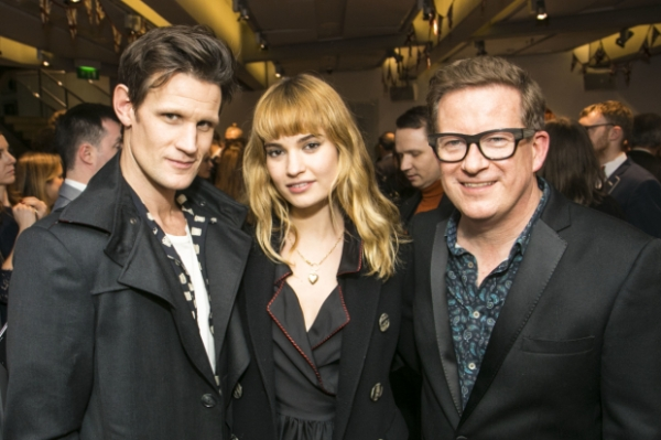 Matt Smith (Actor) with Lily James (Actress) and Matthew Bourne