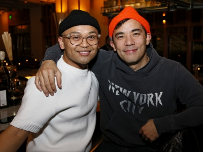 Actors Jeigh Madjus and Conrad Ricamora at Matthew Bourne's Cinderella Opening Night in LA