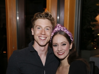 Andrew Monaghan and Ashley Shaw at Cinderella Opening Night in LA