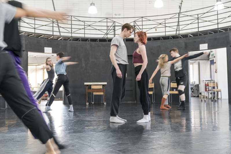 Paris Fitzpatrick and Cordelia Braithwaite in rehearsals for Romeo and Juliet